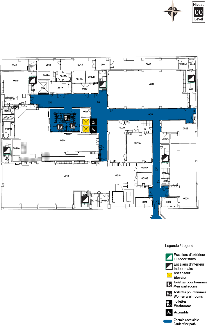 Accessible Map - STEM level 00