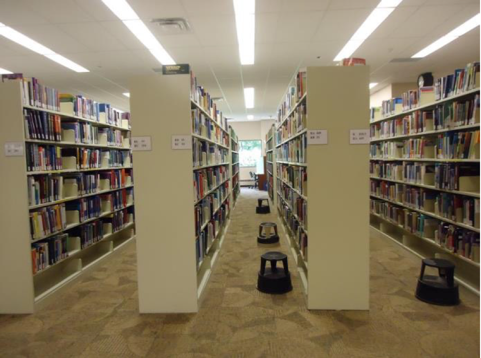 The library in Roger Guindon Hall