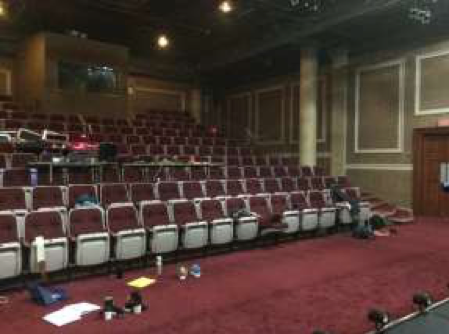 The theatre room in the Academic Hall