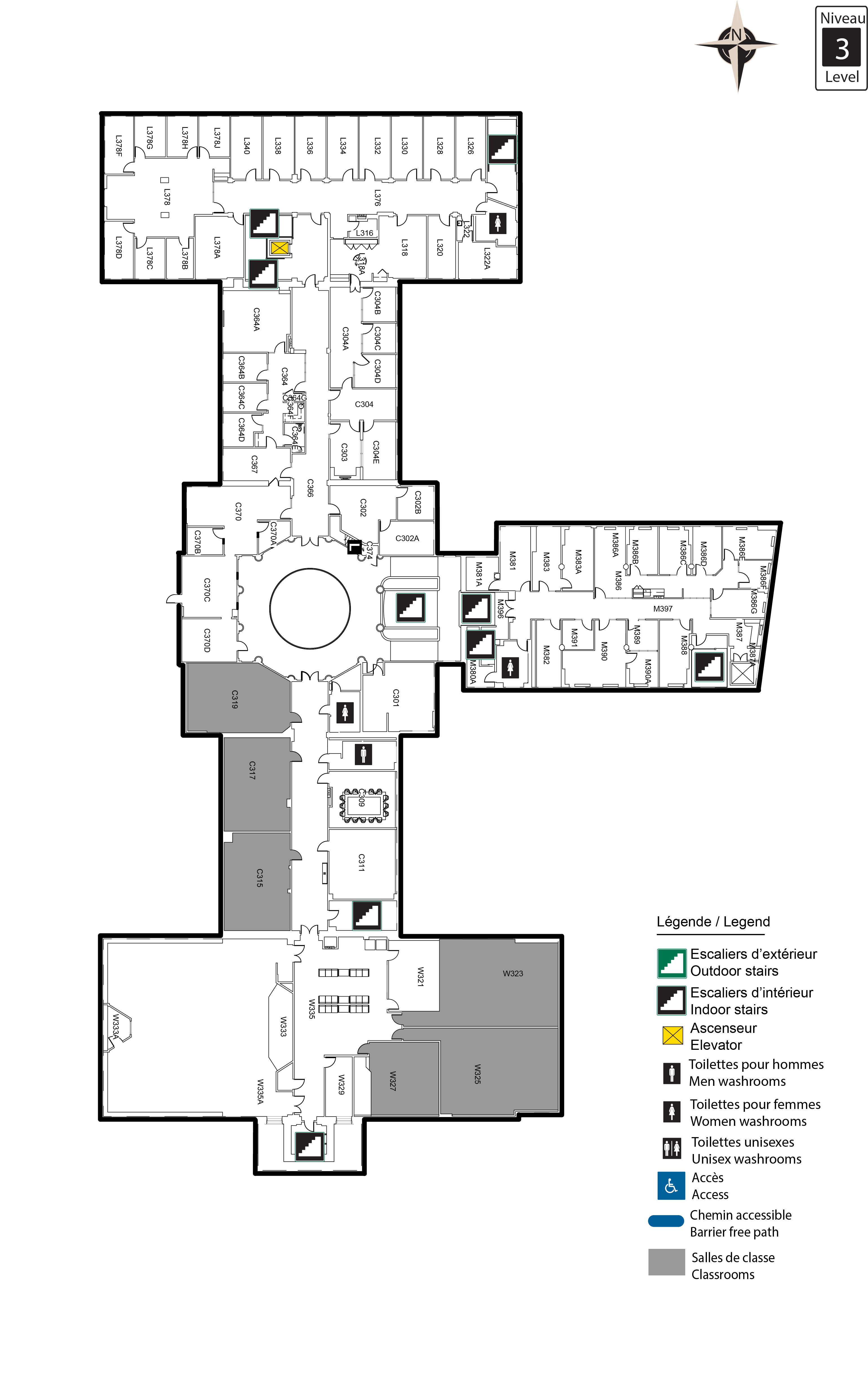 Accessible map - Tabaret 3