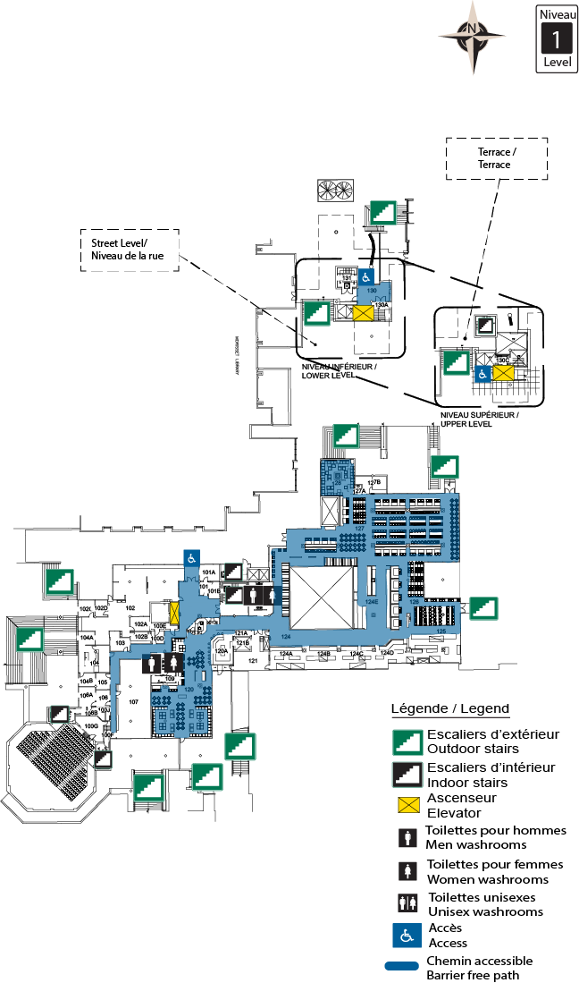 Accessible map - University Center 1